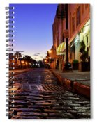 River Street At Dusk Spiral Notebook