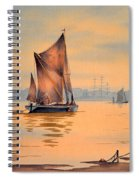River Thames At Greenwich London Spiral Notebook