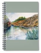 River Through The Hills Spiral Notebook