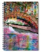 River Walk At Christmas Spiral Notebook