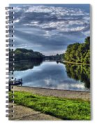 Riverbank Boats Spiral Notebook