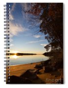 Riverbank Sunset Spiral Notebook