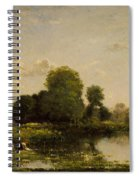 Riverbank With Fowl Spiral Notebook
