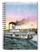 Riverboat Bald Eagle Spiral Notebook