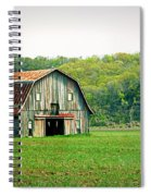 Riverbottom Barn In Spring Spiral Notebook