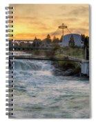 Riverfront Park Sunrise Spiral Notebook