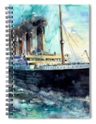 Rms Titanic White Star Line Ship Spiral Notebook