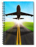 Road And Plane Spiral Notebook