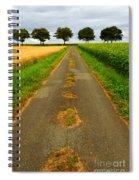 Road In Rural France Spiral Notebook