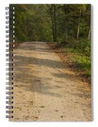 Road In Woods Autumn 2 A Spiral Notebook