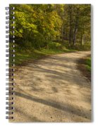 Road In Woods Autumn 3 A Spiral Notebook