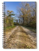 Road In Woods Autumn 4 A Spiral Notebook