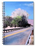 Road Over The Wash Spiral Notebook