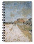 Road Running Beside The Paris Ramparts Paris, June - September 1887 Vincent Van Gogh 1853  1890 Spiral Notebook