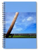 Road Side View Of Countryside Spiral Notebook