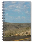 Road Through New Mexico Desert High Noon Spiral Notebook
