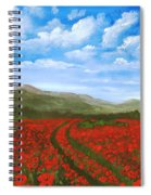 Road Through The Poppy Field Spiral Notebook