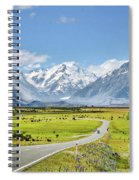 Road To Aoraki Spiral Notebook