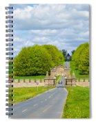 Road To Burghley House-vertical Spiral Notebook