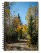 Road To Fall Colors Spiral Notebook