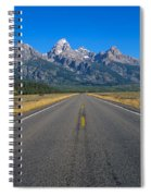 Road To Grand Teton National Park Spiral Notebook