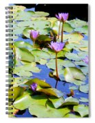 Road To Hana Water Lilies Spiral Notebook