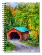 Road To The Covered Bridge Spiral Notebook