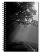 Road With Early Morning Fog Spiral Notebook