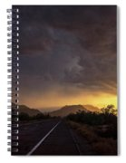 Roadside Sunset  Spiral Notebook