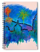 Roanoke In Blue Spiral Notebook
