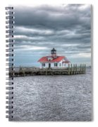 Roanoke Marshes Lighthouse, Manteo, North Carolina Spiral Notebook