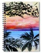 Roatan Sunset Spiral Notebook