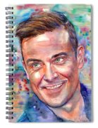 Robbie Williams Portrait Spiral Notebook