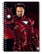 Robert Downey Jr. As Iron Man  Spiral Notebook