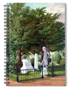 Robert E. Lee Visits Stonewall Jackson's Grave Spiral Notebook