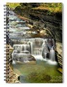 Robert H. Treman State Park Gorge Upper Falls Spiral Notebook