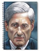 Robert Mueller Portrait , Head Of The Special Counsel Investigation Spiral Notebook