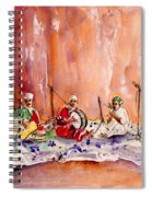 Robert Plant And Jimmy Page In Morocco Spiral Notebook