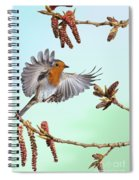 Robin And Poplar Spiral Notebook