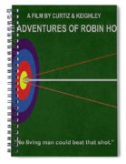 Robin Hood Movie Poster Spiral Notebook