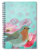 Robin In A Field Of Poppies Spiral Notebook