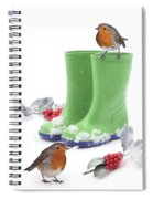 Robins And Green Wellies Spiral Notebook