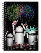 Robo-x9 And Family Celebrate Freedom Spiral Notebook