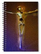 Holy Robocrist  Spiral Notebook