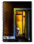 Robot In The Closet Spiral Notebook