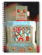 Robot Pop Art R-1 Spiral Notebook