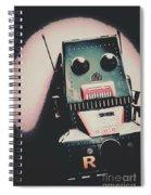Robotic Mech Under Vintage Spotlight Spiral Notebook