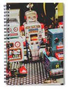 Robots Of Retro Cool Spiral Notebook