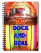 Rock And Roll Jukebox Spiral Notebook