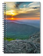 Rock Climbing At Ravens Roost Pano Spiral Notebook
